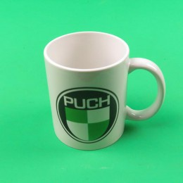 Coffee mug cup with PUCH logo
