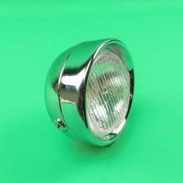 Headlight classic round chrome Puch Maxi