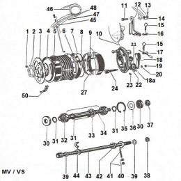 Rearwheel Puch MV / VS